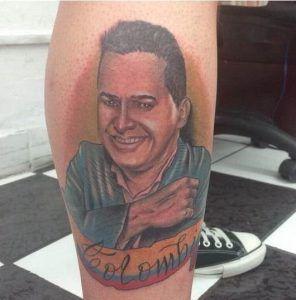 Jorge Celedon Tatuaje en el cuerpo